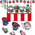 もちくん歳時記-7-8月お盆の頃-盆踊り-お盆の時期に-神社やお寺-広場で行われる踊り